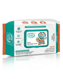 Buddsbuddy Baby Skincare Wet Wipes With Lid 100 Pcs 60gsm (Age 0m+)