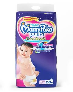 MamyPoko Extra Absorb Pant Style Diapers Extra Large - 28 Pieces