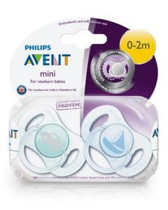 Philips Avent  Soothers New Borns - Pack of 2 (0-2 MONTHS)