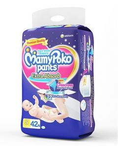 MamyPoko Extra Absorb Pant Style Diapers Small - 42 Pieces