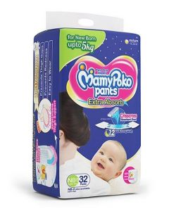 MamyPoko Pant Style Diapers New Born - 32 Pieces
