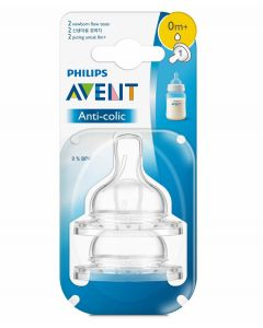 Philips Avent Classic 4 Holes Silicone Teat Fast Flow Set of 2