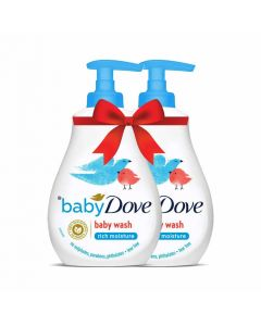 Baby Dove Rich Moisture Baby Wash 400ml Pack of 2