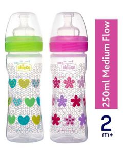 Chicco Bipack Well Being Bottle Pack of 2 250 ml