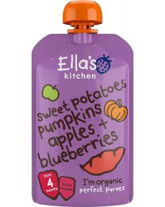 Ella's Kitchen Organic Sweet Potatoes, Pumpkin, Apples and Blueberries Baby Pouch