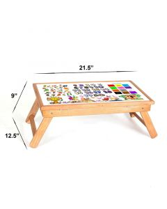 Pinkbunny Study Table Steam Beech Wood Natural Wood Look 001