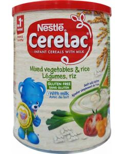 Nestle Cerelac Mixed Vegetables and Rice 400g
