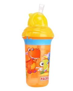 Nuby Clik It No Spill Flip It Straw Sipper Printed Cup