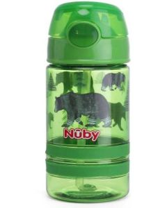Nuby Flip-IT Active Sipper with thin straw 360ml