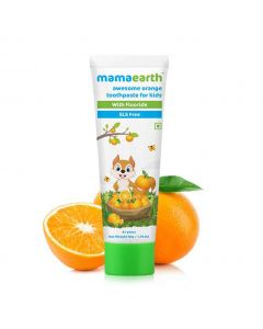 Mamaearth Orange Toothpaste For Kids With Fluorid 50g