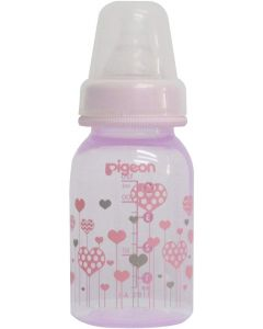 Pigeon Peristaltic Clear Nursing Bottle Abstract (Girl)