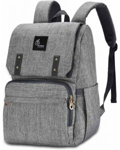 R for Rabbit Caramello Grand Back Pack Diaper Bags - Smart and Waterproof Mother Bag Grey