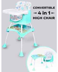 R for Rabbit Cherry Berry Grand - The Convertible 4 in 1 Feeding High Chair for Baby/Kids