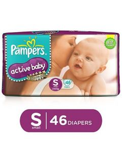 Pampers Active Baby Diapers Small - 46 Pieces