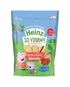 Heinz Eat & Play Strawberry & Peach Biscuits (Peppa Pig) 140g