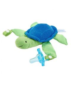 Dr Browns Turtle Lovey with Blue One-Piece Pacifier